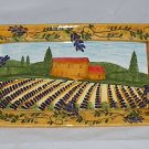 Ganz Bella Casa 16 Inch Serving Tray Vineyard Themed