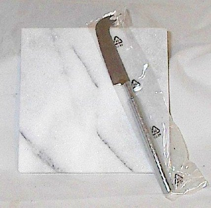 6 inch Marble Cheese Cutting Board with Stainless Steel Knife