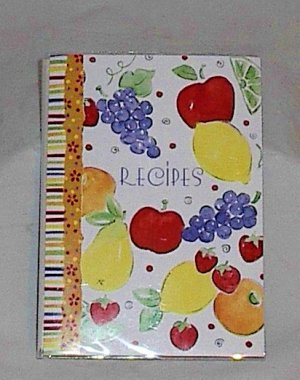C.R. Gibson Recipes Travel Book with Recipe Cards featuring Fruit