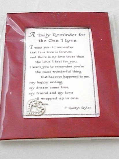 Blue Mtn Easel-back w/ Magnet Love print 'A Daily Reminder'
