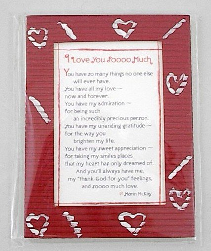 Blue Mountain Arts Easel-back w/ Magnet Love print 'I Love You So Much'