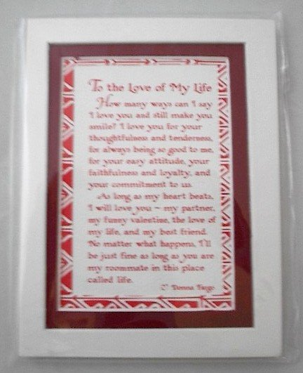 Blue Mountain Arts Easel-back w/ Magnet Love print 'To the Love of My Life'