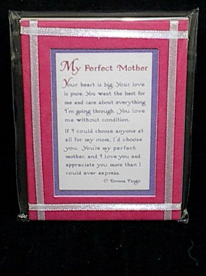 Blue Mountain Arts Easel-back Love print 'My Perfect Mother'