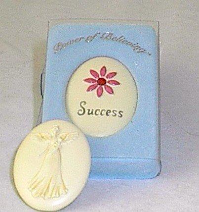 Handpainted Power of Believing 'Success' Angel in my Pocket Stone