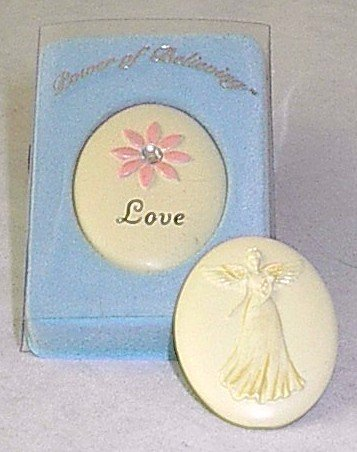 Handpainted Power of Believing 'Love' Angel in my Pocket Stone