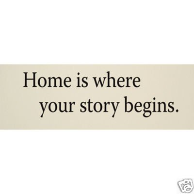 "Vinyl Wall Art Decor ""Home is where your story begins."""