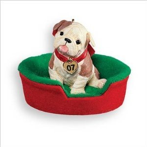 Hallmark Keepsake Ornament 2007 Puppy Love Bulldog