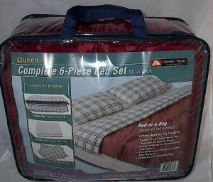Ozark Trail Outdoor Equipment Queen Gray Sheet Set Air bed Camping New