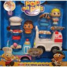 Pop on Pals Deluxe 2-in-1 Vehicle Set Chef and Pet Doctor