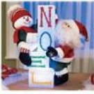 "Santa & Snowman With Color Changing ""Noel"" Blocks"