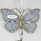 Ganz Silver & Blue 'Live Freely' Butterfly Car Charm Ornament