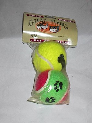 2 pack -  Dog Toy Bouncy Colorful Tennis Balls
