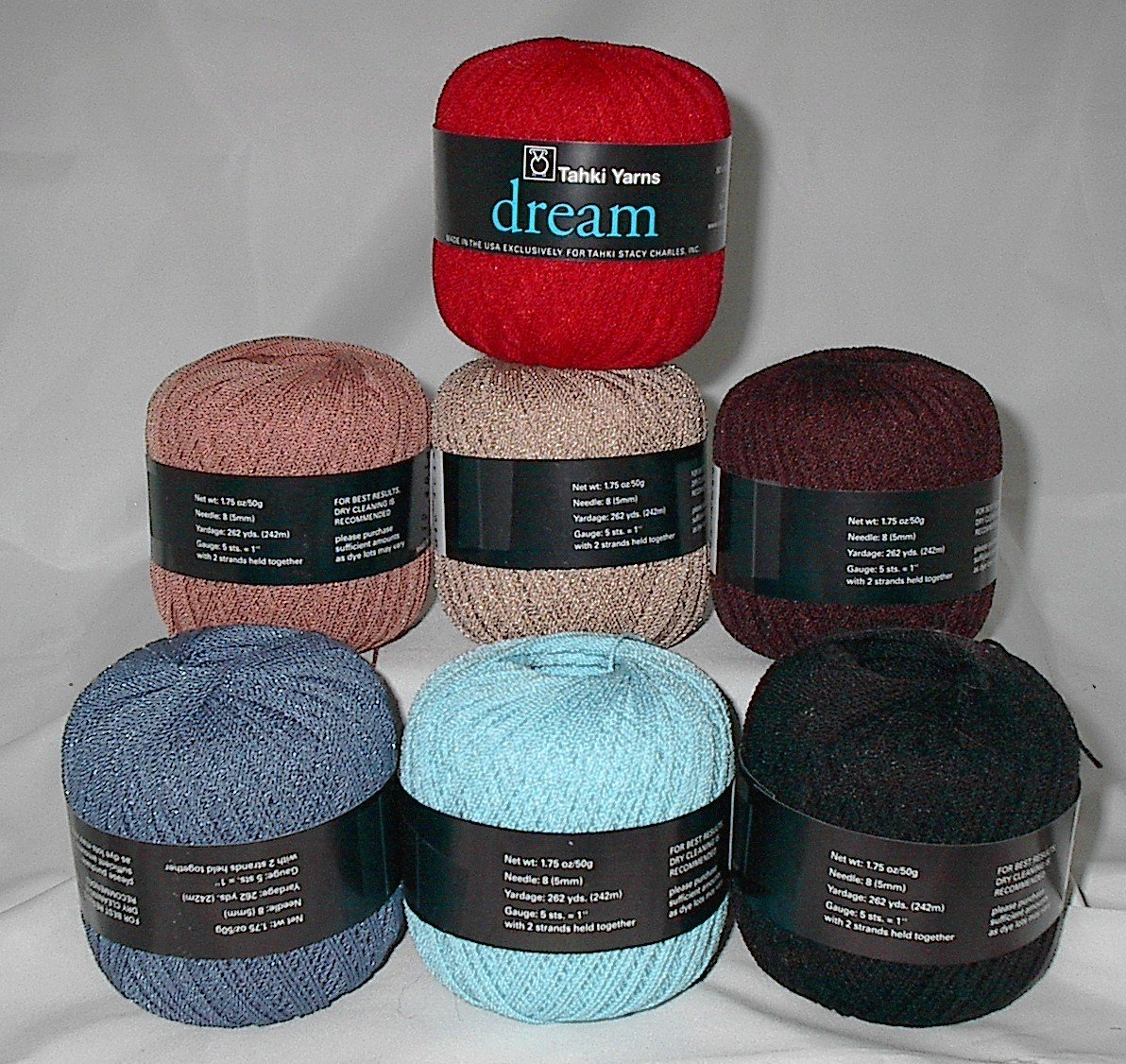 50% Discount on Tahki Dream Wool Blend Yarn Black #015