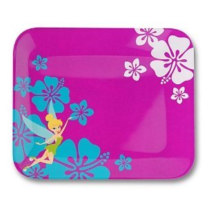 Disney Store Exclusive Summer Time Fun Tinkerbell Flowered Dinner Plate