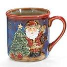 Christmas Hand-painted Porcelain Santa Mug