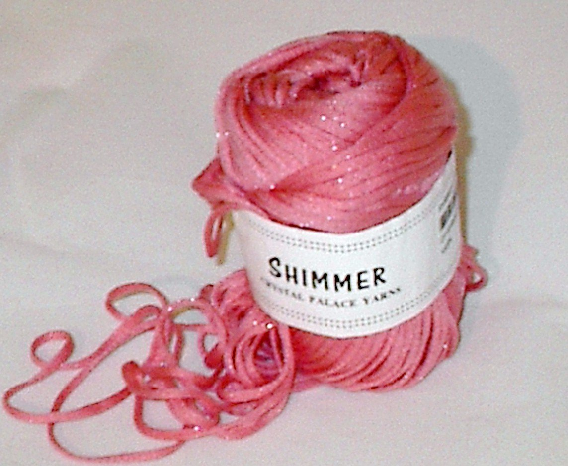 Crystal Palace Shimmer #2846 Strawberry Yarn