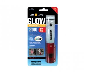Life Gear Auto Glow Rechargeable Flashlight Emergency Flasher