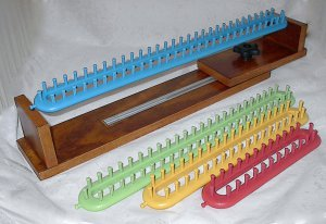Handcrafted Adjustable Wood Loom Cradle with FREE Yarn