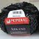 Mondial Arkano Trendsetter 861 Black, Black (Grey) Yarn Free Shipping Offer