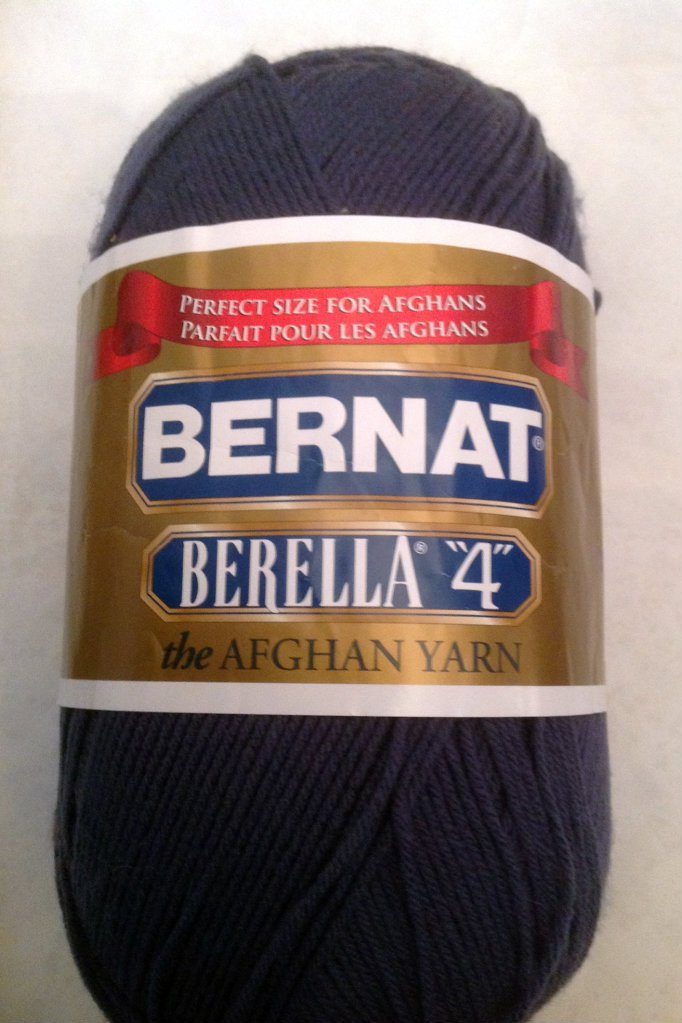"Bernat Berella ""4"" the Afghan Yarn 400g Dark Country Blue"