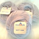 Pingouin Soft Hair Mohair Yarn 0023 Grey