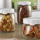 Snapware 3 Piece Airtight Leakproof Square Glass Canister Set
