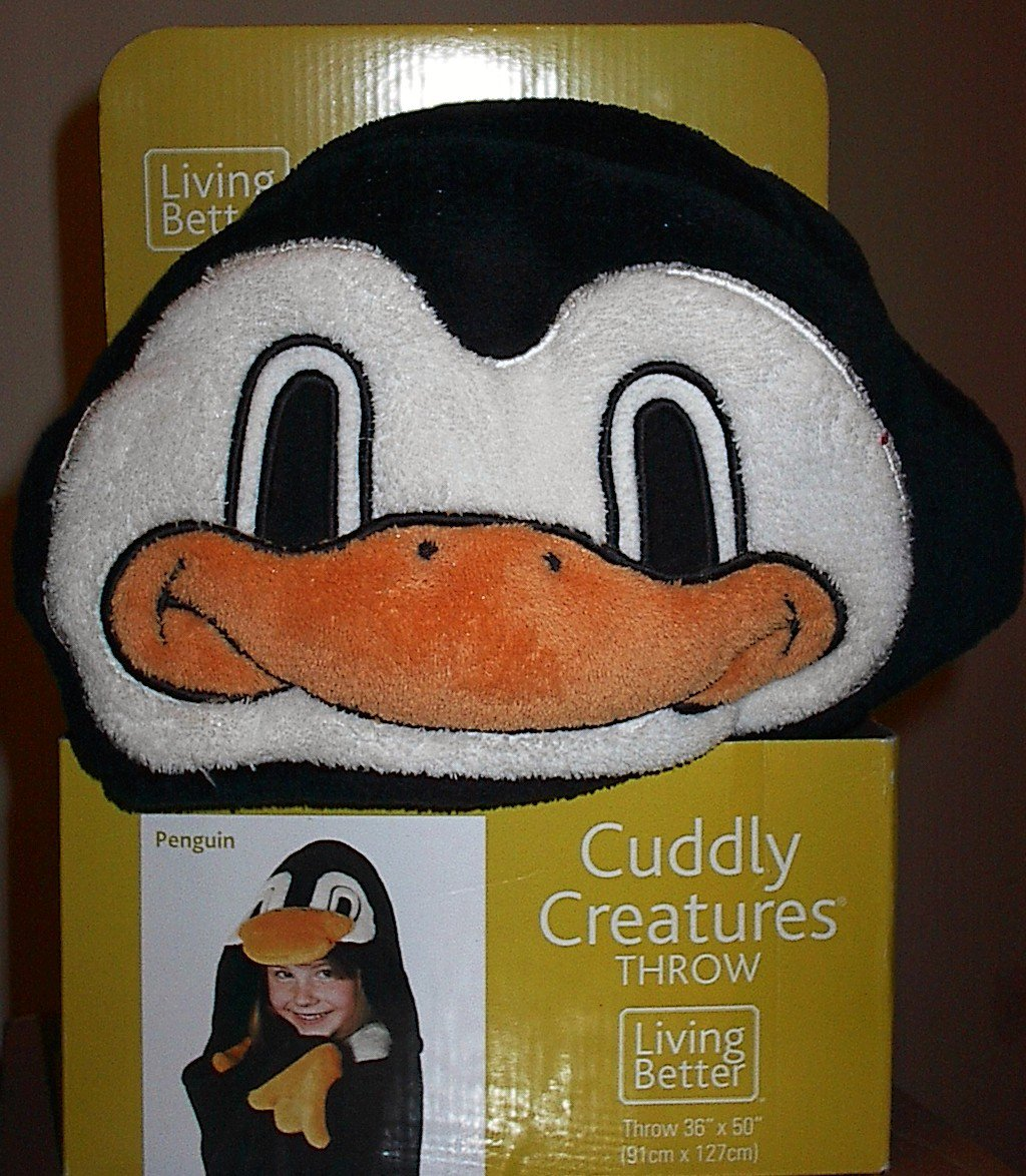 Living Better Cuddly Creatures Pretend-play Penguin Throw