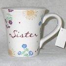 Russ Berrie Dear to My Heart Sister Best Friend Ceramic 12 oz Tea Coffee Mug