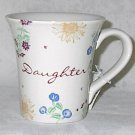 Russ Berrie Dear to My Heart Daughter Ceramic 12 oz Tea Coffee Mug