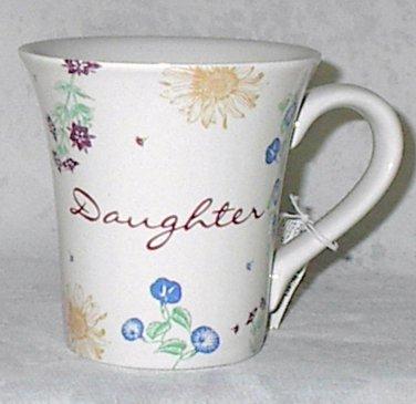 Russ Berrie Dear to My Heart Daughter Ceramic 12 oz Tea Coffee Mug