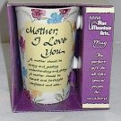 "Mother's Day Blue Mountain Art Message Mug ""Mother I Love You"""