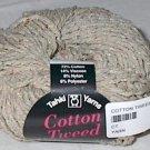 Tahki Cotton Tweed Worsted Italian Yarn #001 Tan