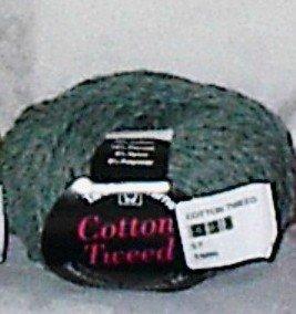 Tahki Cotton Tweed Worsted Italian Yarn #004 Green