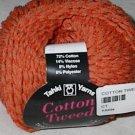Tahki Cotton Tweed Worsted Italian Yarn #005 Orange