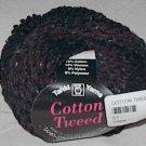 Tahki Cotton Tweed Worsted Italian Yarn #008 Black