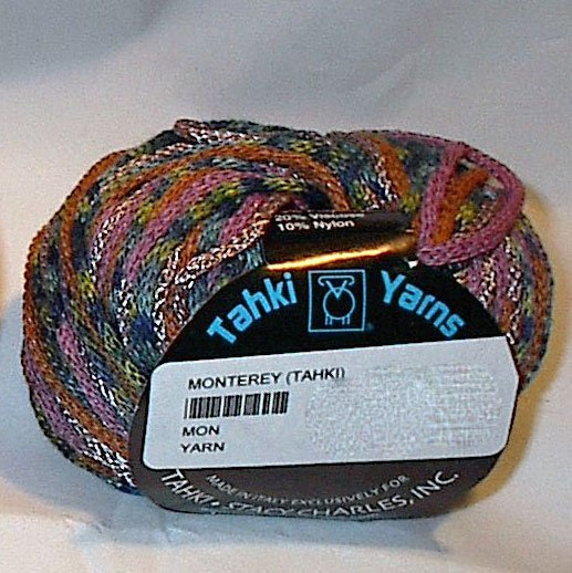 Tahki Monterey Bulky Wool Blend Yarn Gray Pink #02