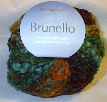 Plymouth Yarn Brunello Wool Blend Super Bulky Yarn Autumn Foliage 5135 Loom Knit Crochet