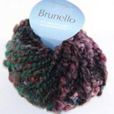 Plymouth Yarn Brunello Black Wool Blend Super Bulky Yarn Green Spruce 5132 Loom Knit Crochet