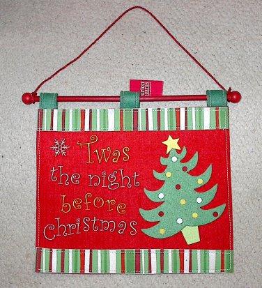Burton & Burton Felt Christmas Wall Hanging Twas the Night Before Christmas