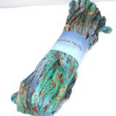 Plymouth Ruffle Lace Cotton Blend Yarn Passion Nette 100g Ocean 005