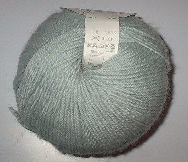GGH Muench Wollywasch Superwash Wool Yarn 78 Light Blue Gray Loom Knit Crochet