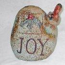 Exquisite Porcelain Hvy Stone Decor with Cardinal JOY