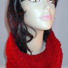 Handmade in the USA Womens Fashion Convertible Cowl Hoodie Hat Scarf Combo in Red