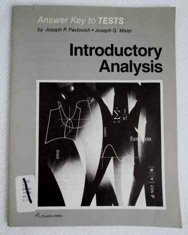 Answer Key to Tests for Introductory Analysis 0395406595