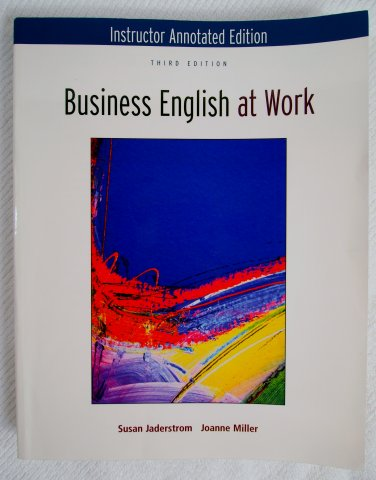 Instructor Annotated Edition for Business English at Work 0073137901