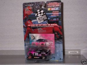 NASCAR 1999 #99 JEFF BURTON EXIDE 1/64 PRESS PASS
