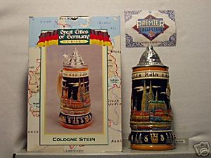 BUDWEISER CS388 1999 GERMANY COLOGNE STEIN MUG