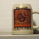 BUDWEISER SO48249 1990 WISCONSIN TURKEY STEIN MUG