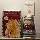 BUDWEISER CS192 SE 1993 HOLIDAY SIGNED LIDDED #14 STEIN