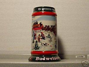 BUDWEISER CS133 1991 HOLIDAY SEASON'S BEST #12 MUG